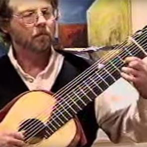 James Kline playing 11 string arch guitar